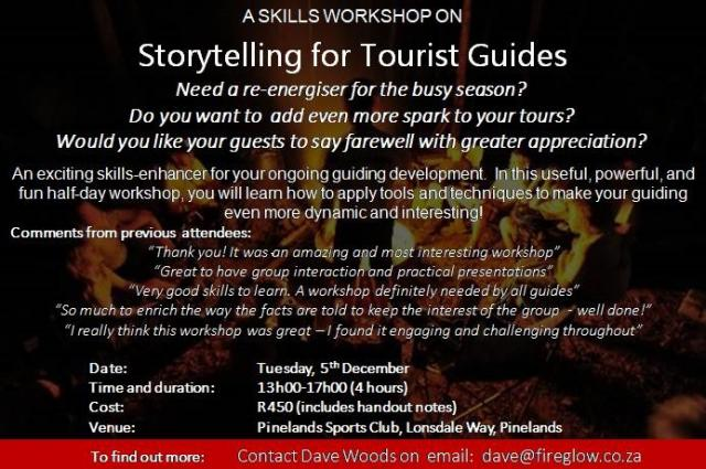 Story telling for tourist guides